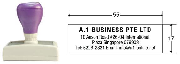 Self pre inking rubber stamps rubber stamp maker singapore since stamp df1755 reheart Choice Image