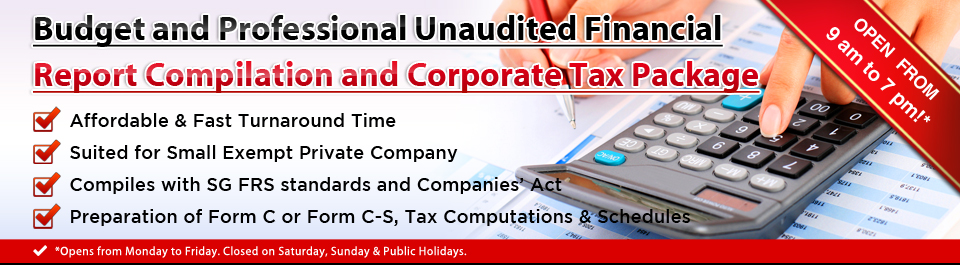 Budget and Professional Unaudited Financial Report Compilation and Corporate Tax Package