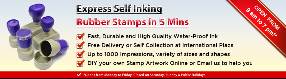 Express Self Inking Rubber Stamps In 5 Mins