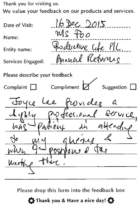 A1Corp-Testimonial-Productive Life Pte Ltd