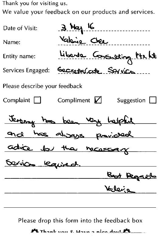 A1Corp-Testimonial-Libende Consulting Pte Ltd