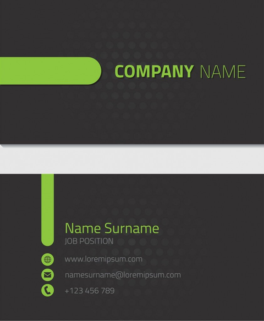 Black Name Card Printing