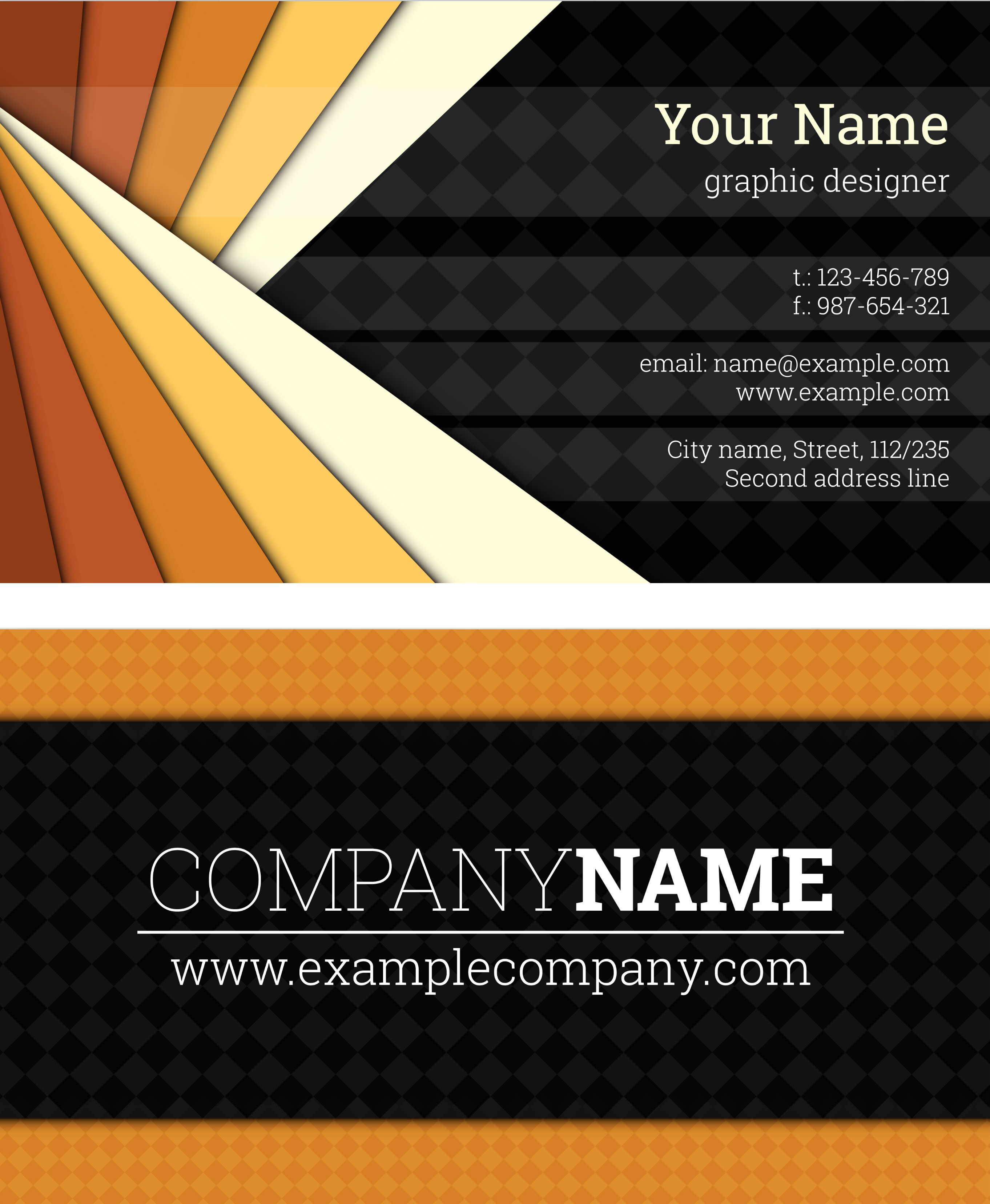 Name Card Design Structure